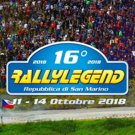 16^ Rally Legend - dall'11 al 14 ottobre 2018
